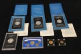 USA samling dollars og 5 og 10 Dollar guld m.m. (7)