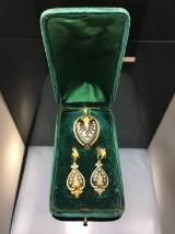 Antik demi-parure med perler (3)
