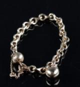 Ole Lyngaard bracelet, 14 kt. gold with heart charm