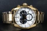 Bisset Of Switzerland, model Gold. Swiss made Herre Chronograph.
