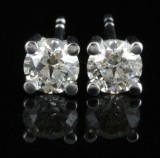 Earrings in 14k with brilliant cut diamonds 0.79ct