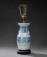 Kinesisk vase af porcelæn, 1700/1800-tallet.