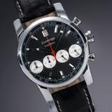 Eberhard & Co. 'Chrono 4'. Men's chronograph, steel with black dial, 2000s