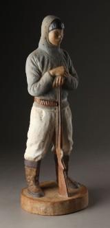 Eigil Knuth 1903-1996. Figur af stentøj, Grønlandsk fanger