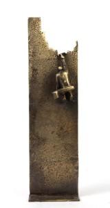 Saga Jon. 'From my point of view'. Skulptur af patineret bronze, H. 53 cm.