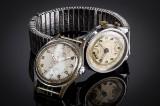 To Vintage herrearmbåndsure af stål. (2)
