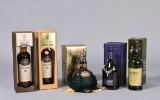 Samling på 5 flasker Whisky, Skotland (5)