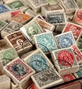 Frimærker - Danmark i  Bundter (ca. 500)