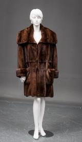 Brdr. Alex Pedersen. Mink coat, short model, size M