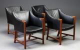 Børge Mogensen. A set of four rare armchairs, Johannes Hansen (4)