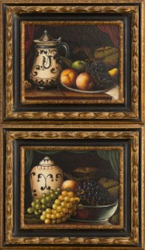 Paar Gemälde, Stillleben, 20. Jh. (2)