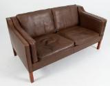 Børge Mogensen 2-pers sofa, model 2212. Original betrukket