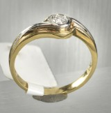 Ring in gold 18 k with diamond approx. 0.17 ct