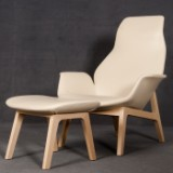 Jean-Marie Massaud, lounge chair model Ventura including stool/footstool from Poliform (2)