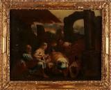 Jacopo Bassano hans efterföljare oljemålning