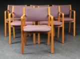 Kinnarps. Armstole med stel af formbøjet bøg (6)
