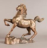 Springende hest, bronze, Gießerei Gießen, Hessen
