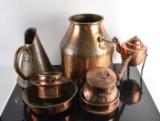 Samling kopparföremål (10)