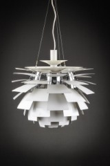 Poul Henningsen. PH Artichoke, pendant lamp with white-lacquered steel leaves. Ø 60 cm