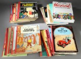 Collection of Danish first edition Tintin albums and books about Tintin (31)