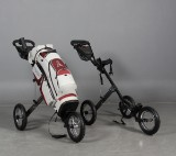 Ping golfbag med to vogne. (3)