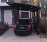 Carport i sortlakeret aluminium. 5,4 x 2,7 x 2,5 m
