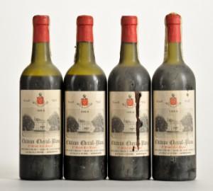 4 fl. Chateau Cheval Blanc 1964 Saint-Emilion Premier Grand Cru.