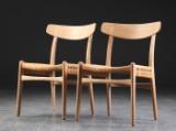 Hans J. Wegner. Et par stole model CH23, egetræ (2)