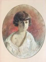 J. Prachazka, Aquarell auf Papier, Porträit eines Jüngling