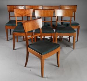 Art Deco mahogany and fruitwood dining room set, c. 1930 (13 ...