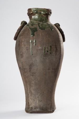 Japanische Vase Bodenvase Keramik Tokonoma 19 Jahrhundert