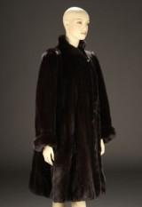 Saga. Female mink coat, size 36-38