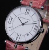 Van Cleef & Arpels 'Classic'. A large ladies watch, steel, with original clasp, 2000s