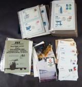 SAS førsteflyvningskuverter samling m.v.