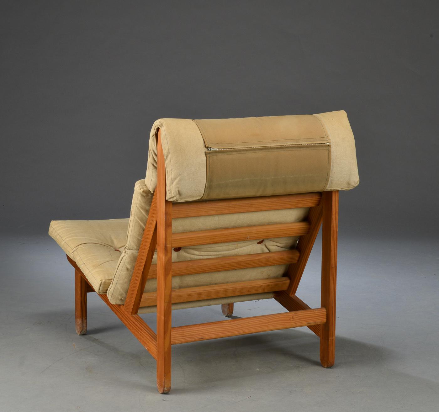 Bernt Pedersen. Kludestol The Rag Chair samt skammel