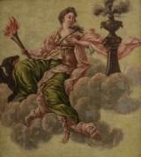 Okänd konstnär, olja på pannå, allegoriskt motiv, 1700/1800-tal