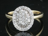 Diamond ring in 14kt approx. 0.54ct
