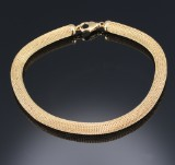 An Italian necklace, 18 kt. knitted gold, weight approx. 79.2 g