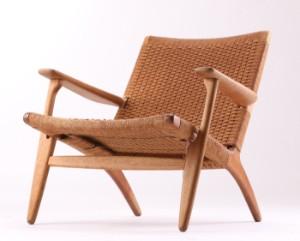lænestol flet Hans J. Wegner. Lænestol, egetræ og flet, model CH 25 Denne vare  lænestol flet