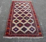 Teppich, Wolle auf Baumwolle, ca. 207 x 108 cm