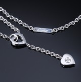 Cartier diamond heart necklace, 18 kt. white gold