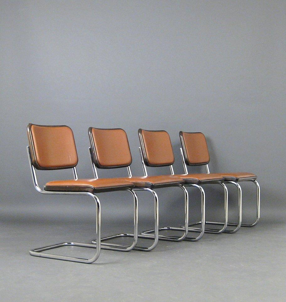 Auktionstipset - Marcel Breuer, Stühle Modell S 32 von Thonet (4)
