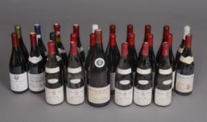 Samling af Bourgogne rødvine 26.