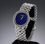 Patek Philippe. A rare ladies watch, 18 kt. white gold, with lapis lazuli dial