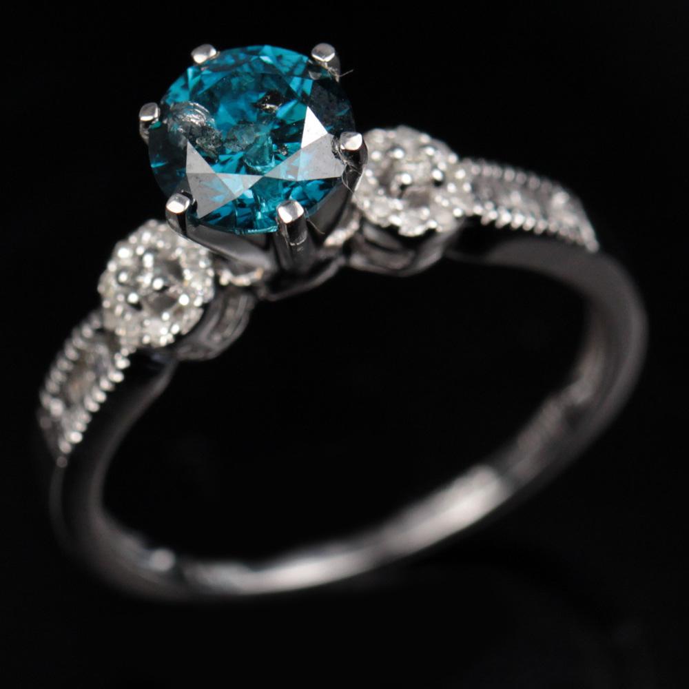 blå diamant ring