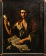 Luca Giordano (attributed), image of a philosopher, mid-17th century, an oil painting