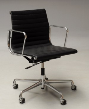 Vare 4465241 charles eames kontorstol i 39 full leather for Eames ea 117 replica