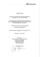 AG Horizont, Gutschein für sechs Stunden Beratungsgespräch