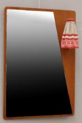Spegel med vägghängd lampa, 1950-tal