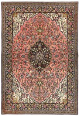 Hand-knotted Persian rug, Ghom, 210 x 140 cm